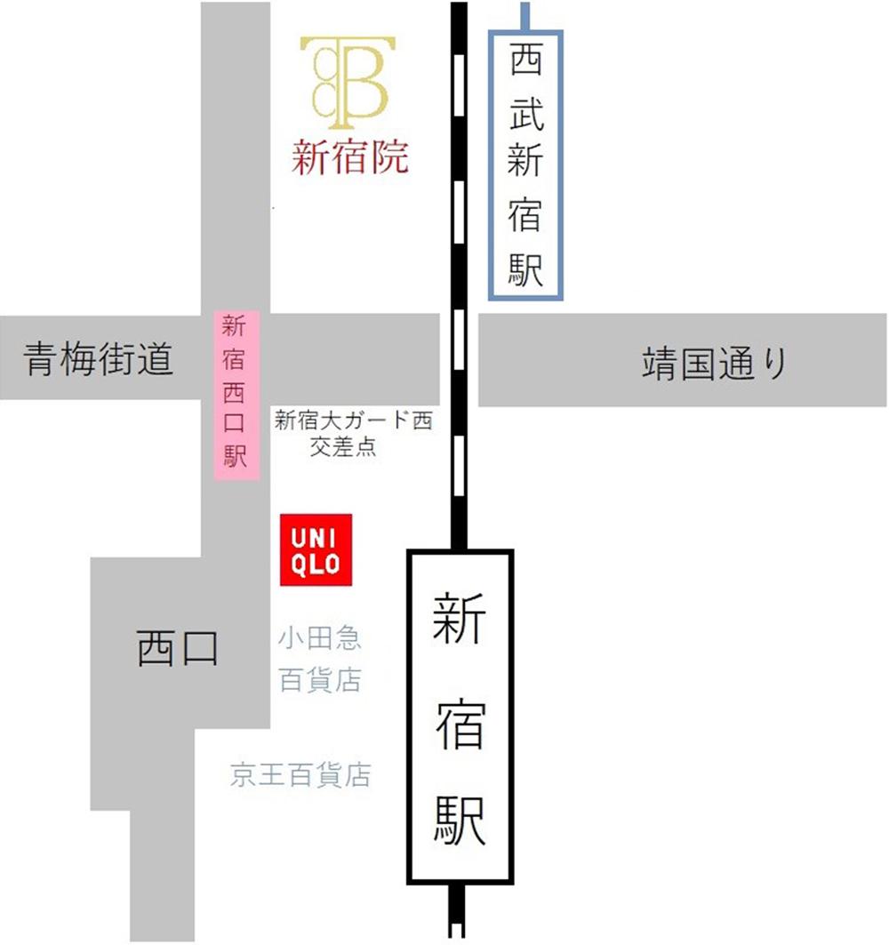 新宿院 アクセスマップ